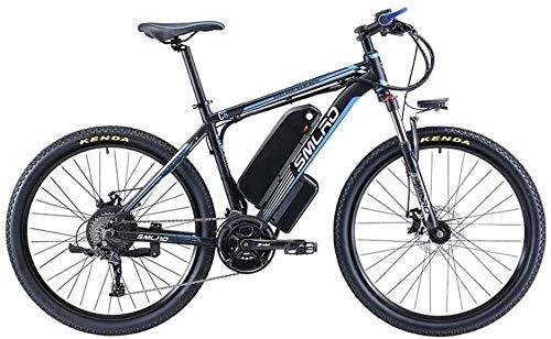 LAMTON Adulti Electric Mountain Bikes, 500W 48V13-16AH Batteria al Litio, 27 velocità Lega di Alluminio Bicicletta elettrica (Colore : B, Taglia : 16AH)