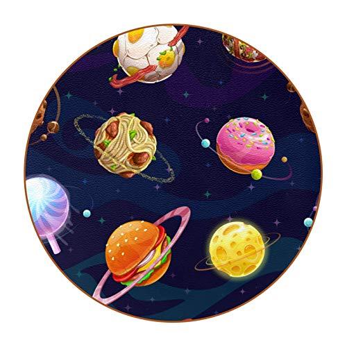 Bennigiry Hamburg Doughnut Planets - Posavasos con forma de bola de carne, resistentes al calor, para taza de café y té, juego de 6