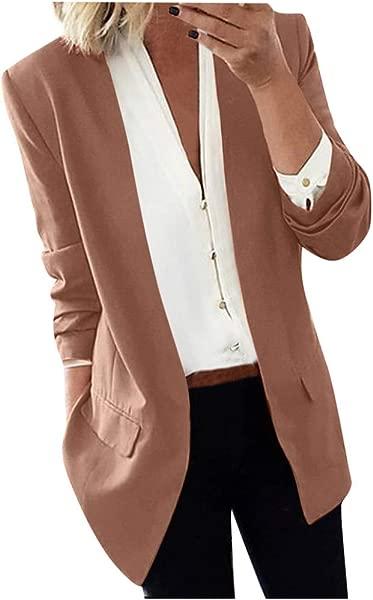 PerfectCOCO Blazers For Women Lapel Fashion Elegant Long Coat Blazers Ladies Casual Office Suit Jacket Outwear