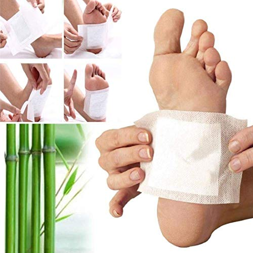 TECHICON Kinoki Detox Foot Pads for Stress Relief Sleep – Remove Toxins, Rest and Pain Free, Premium Organic Adhesive Golden Foot Patches 10 Pcs