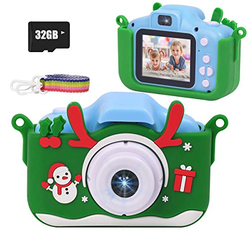 JLtech Kids Camera, Digital Kids Video Camera with Silicone Case,32GB SD Card Included, Best Gift Toys for Boys and Girls