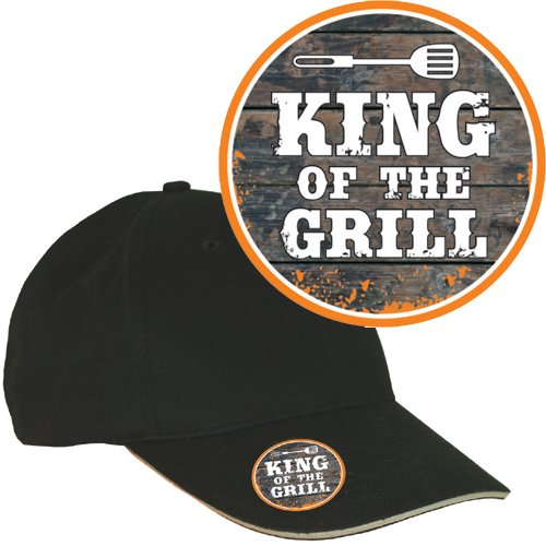 AV Andrea Verlag Base Caps (King of The Grill 32889) mit Metall Flaschenöffner und 3D Etikett Doming