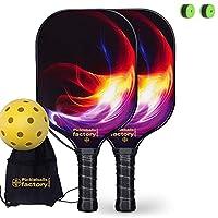 ピクルボール パドル, ピクルボール ラケット, ピックルボールラケット, ピックルボールパドル, Pickleball Net Bag, ピックルボールボール,PINK RED FLAMING Pickleball Rackets Set, 1 Carrying Case
