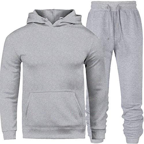 Conjunto Moletom Masculino Blusa Cinza com Calça Masculina Cinza