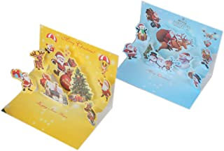 Greeting Card Christmas Stereo Greeting Card Christmas Scene Greeting Card Thanksgiving Day Birthday Gift Blessing Memorial (10Pcs) 1419Cm