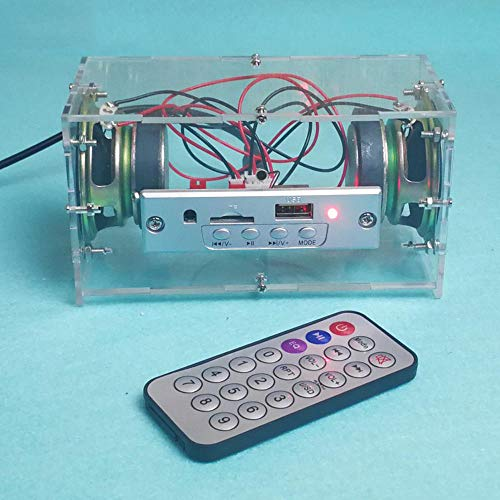 KASILU Dlb0109 DIY 3W MinDiskirt Kit de Altavoz Bluetooth MP3 Music Power Amplificador Audio Kit de producción electrónica Alto Rendimiento