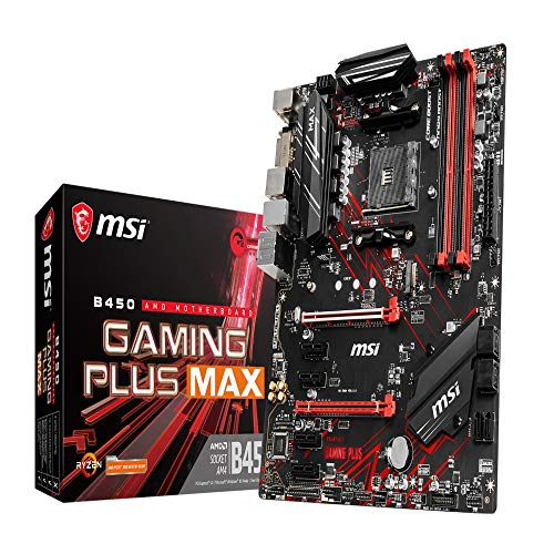MSI B450 GAMING PLUS MAX AMD AM4 DDR4 m.2 USB 3.2 Gen 2 HDMI ATX Gaming Motherboard