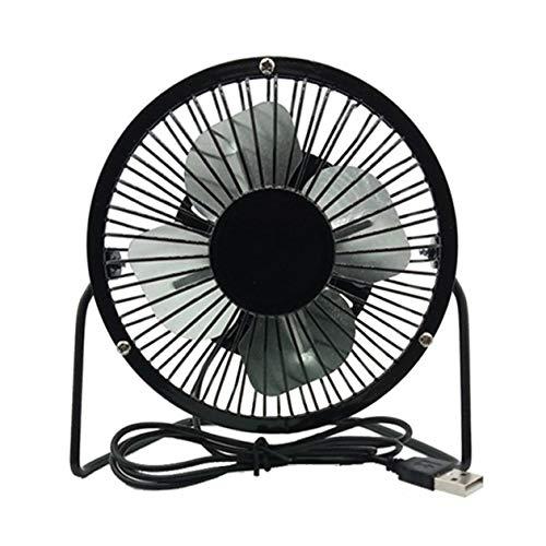 Nowakk Ventilatore Usb Mini Ventilatore Portatile Ventilatore Da Ufficio Ventola Di Raffreddamento Ventilatore Da Tavolo Piccolo Ventilatore Studente Desktop Regalo Creativo - Nero