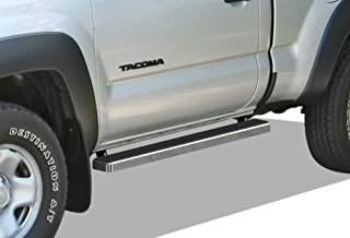 APS iBoard Running Boards 4 inches Custom Fit 2005-2020 Toyota Tacoma Standard Cab Pickup 2-Door (Nerf Bars Side Steps Side Bars)