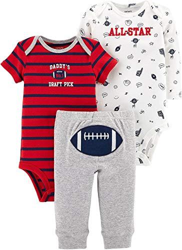 Carters Baby Boys 3-pc. Bodysuit and Pant Set Newborn (Newborn, Bulldog)
