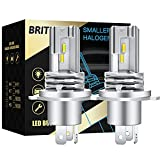 Briteye Bombillas H4 LED Moto Coche 6500K Blanca Faros de Luces Altas/Bajas DC 12V/24V Faros Lamparas Para Coche(2pcs)