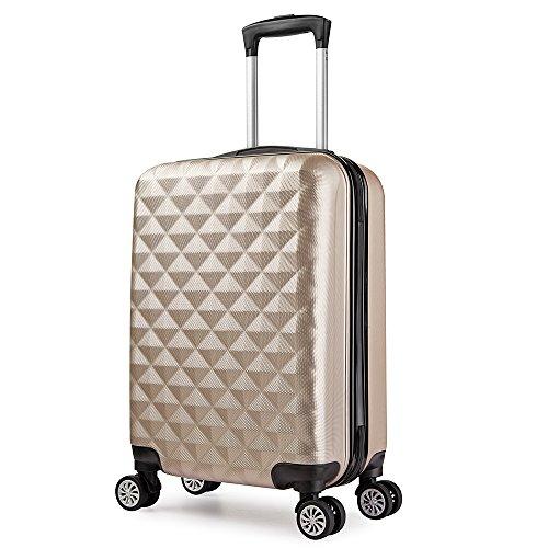 Trolley valigia 55cm bagaglio a mano ABS 40L 2.4kg super leggera 5 ruote rigida ¡