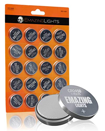 EmazingLights CR2450 Batteries 3 Volt Lithium Coin Cell 3V Button Battery (20 Pack)