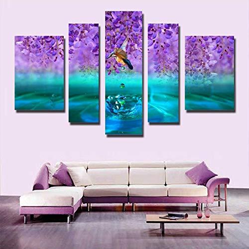 aicedu Pangoo Moderna HD 5 Pannello Colorato Paesaggio su Tela Pittura di Arte della Parete Spray A Olio Pittura Home Decor per Soggiorno d