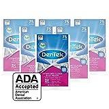 DenTek Comfort Clean Easy Reach Floss Picks | Cleans Back Teeth, 75 Count,(6 Pack) (Packaging May Vary)