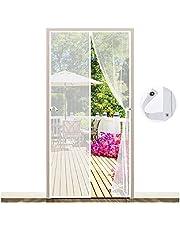 EGNBU Magnetisch vliegengaas, deur, magnetisch gordijn, vliegengordijn, muggennet voor balkondeur, kelderdeur en terrasdeur, eenvoudige montage zonder boren (90 * 210cm, White)