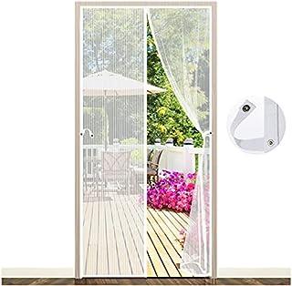 Magnetyczna moskitiera drzwi, EGNBU przeciw komarom zasłona na drzwi siatki, uszczelki od góry do dołu zamykają się automa...