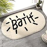 Badezimmer Saugfähiger Teppich Briefvorleger Türmatte Herzförmige Teppiche Haushaltsbodenmatte flauschig saugfähig rutschfeste Türvorleger 40x60cm 2