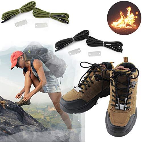 Owlike Wilderness Survival Emergency Shoelace Fire Starter Scrapper 550 Paracord Laces Gear