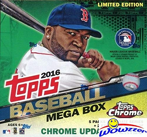 2016 Topps Chrome Update Baseball EXCLUSIVE Factory Sealed MEGA Box! Look for Chrome All-Star Stitches Autos & Relics of Mike Trout, Bryce Harper, Kris Bryant & Many More! WOWZZER!