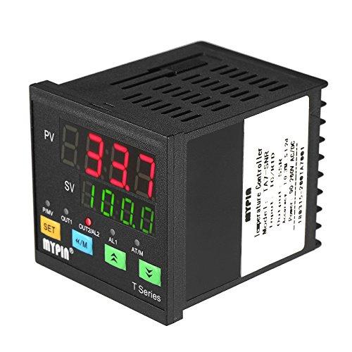 Baugger Controlador de Temperatura - Termómetro Digital Automático del Regulador de la Temperatura del Pid del LED Snr 1 Salida del Relé de la Alarma Entrada Tc/Rtd