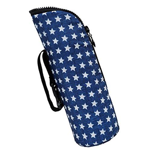 Warmhaltetaschen Baby flaschen Tasche Warmhaltebox Baby Bottle Bag, Größe: Höhe: 25cm / 9.84inch, Durchmesser: 8cm / 3.14inch. - Blauer Stern