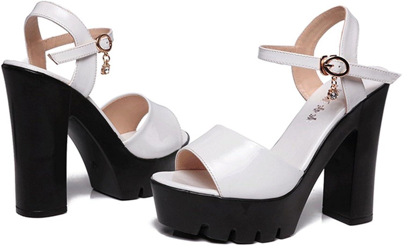 T-JULY Fashion Wedge Platform High Heel Peep Toe Sandals for Sandals Ankle Straps Slip On Comfy Dress Slippers