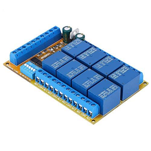 Jeanoko IO25E08 Acondicionador de energía 5V 12V 24V Placa de relé Aislamiento de optoacoplador para Equipos eléctricos Suministros eléctricos(12V)