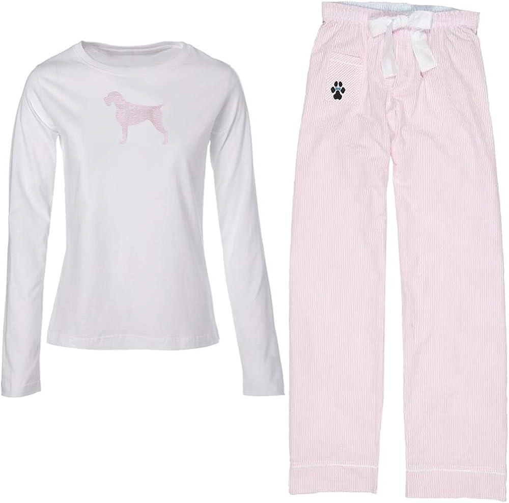 Ladies Spasm Ranking TOP18 price Pajama Set with Matching German Wirehaired Pointer Silhou
