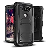 J.west G5 Case, [Heavy Duty Belt Clip Kickstand] Full-Body Rugged G5 Holster Case Dual Layer Hybrid Protective Cover Without Built-in Screen Protector for G5 2016 Black