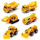 Dreamon Spielzeugautos Bagger Lastwagen LKW Baufahrzeuge Fahrzeuge Spielzeug Set Mini