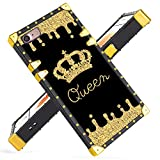 Fiyart iPhone 7 iPhone 8 Case Luxury Square Soft TPU and Hard PC Back Stylish Retro Cover (Gold Queen)