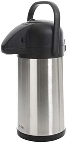 popular Mr popular discount Coffee Pump Pot With Handle - Double Wall - Vacuum Sealed, 2.24 Qt, Stainless Steel online