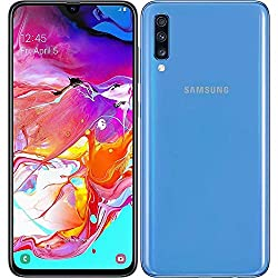 Samsung Galaxy A70 128GB/6GB SM-A705M/DS 6.7 inch HD+ Infinity-U 4G/LTE Factory Unlocked Smartphone (International Version , No Warranty) (Blue)