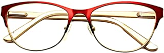 Aiweijia Reading Glasses Retro Unisex Vintage Metal Frame Reading Glasses(1.0 to 3.5)