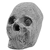 Utheer Imitated Human Skulls Bones Fireproof Gas Log Decoration for Indoor or Outdoor Fire Pits/Fireplaces/Faux Halloween Decor/Campfire