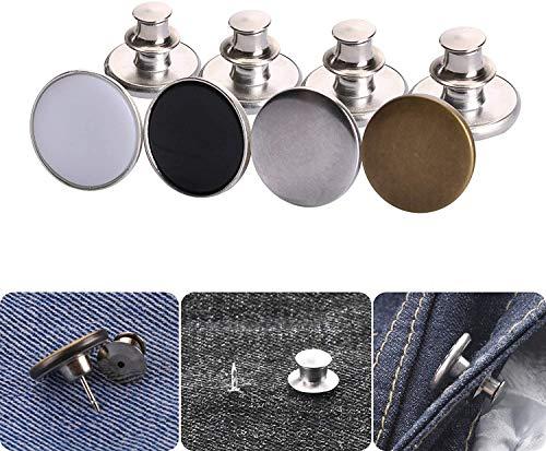 Knoopspelden voor jeans, broekknoopspelden Instantknopen Jean-knoop voor broek Mode Jeans Swing Crafts DIY, gemakkelijk te gebruiken en geen gereedschap nodig