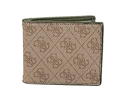 Guess Men's Leather Bifold Wallet, Brown, One Size