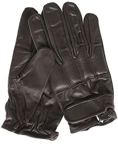 MFH 15615 Security Lederhandschuhe mit Quarzsand (Schwarz/XL)