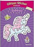 Glitzer-Sticker Malbuch. Einhörner: Mit 45 glitzernden Stickern! (Malbücher und -blöcke)