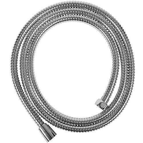 Sanixa JL1115CC Qualitäts Duschschlauch Edelstahl 150 cm | Brauseschlauch für Handbrause | Duschbrause Standart Anschluss | Gewinde für Badewanne