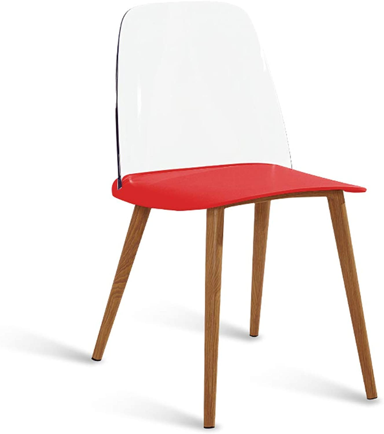LRW Stylish Nordic Designer Dining Chair for Leisure, Family, Creative Personality, Modern Minimalist Chair, Red