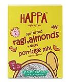 Happa Organic Sprouted Ragi, Almonds + Dates Porridge Mix (Baby Food)-200 g