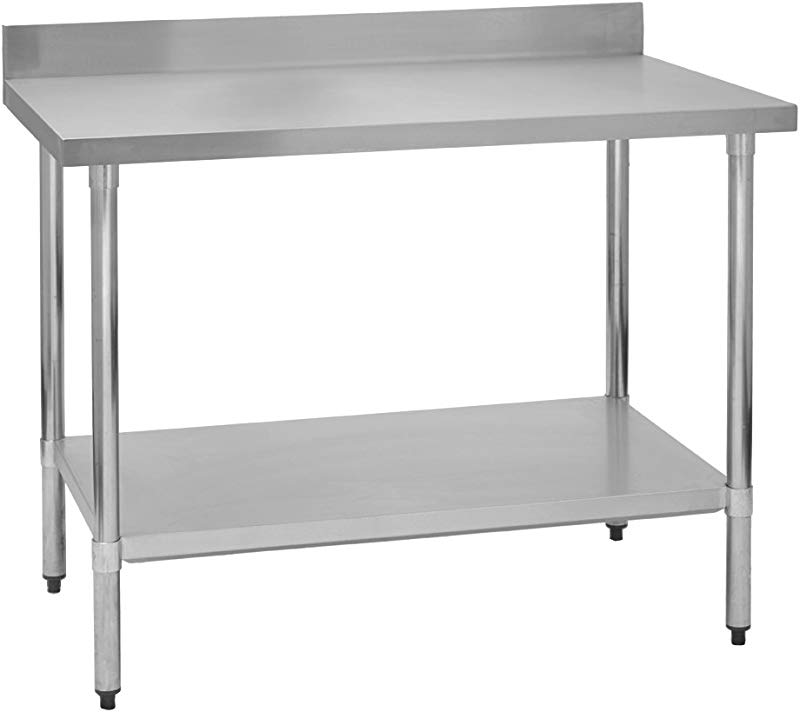 Fenix Sol Stainless Steel Commercial Kitchen Work Prep Table 24 W X 36 L X 36 H 4 Backsplash