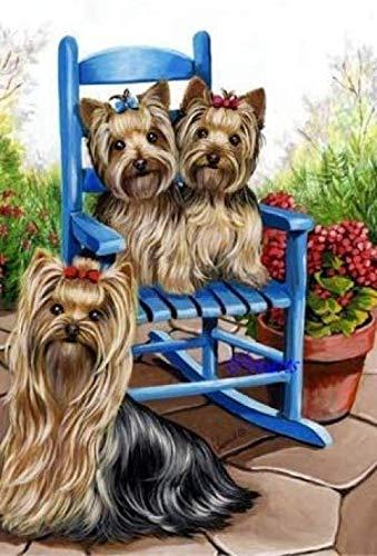Decorsy Legpuzzel 1000 Stukjes Schattige Puppy Op Tuinstoel Moderne Woondecoratie Collectie