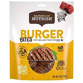 Rachael Ray Nutrish Burger Bites Grain Free Dog Treats Beef Burger with Bison Recipe 12 oz Green  46640330