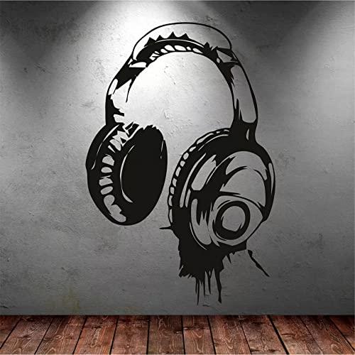 hhhjjj Auriculares música DJ Pegatinas de Pared diseño de Arte Pegatinas de Pared Elegir Papel Tapiz decoración Mural de la habitación de los niños