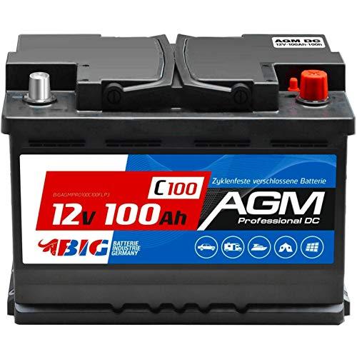 BIG AGM Batterie 100Ah 12V Solarbatterie Versorgungsbatterie Mover Bootsbatterie