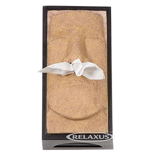Retro 51 Tissue Box Cover - The Schnozzz, Tiki Head, Easter Island Head (Gold)
