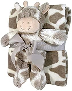 Stephan Baby Snuggle Fleece Crib Blanket and Plush Toy Set, Ginny Giraffe